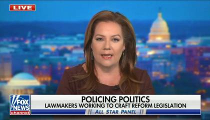 "chyron reads, ""POLICING POLITICS: LAWMAKERS WORKING TO CRAFT REFORM LEGISLATION"""