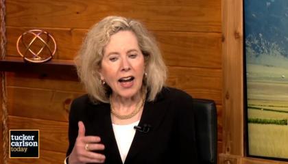 Heather Mac Donald speaks using her hands