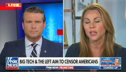 Pete hegseth interviews Lara Logan on Fox News Primetime