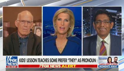 "chyron reads: Kids' lession teaches some prefer ""they"" as pronoun"