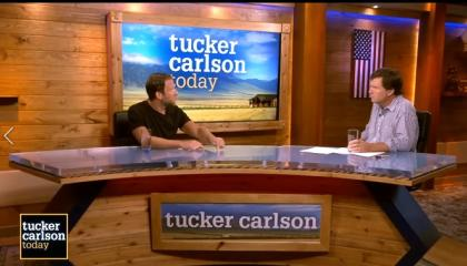 Tucker Carlson interviews Dave Pornoy on Fox Nation's Tucker Carlson Today