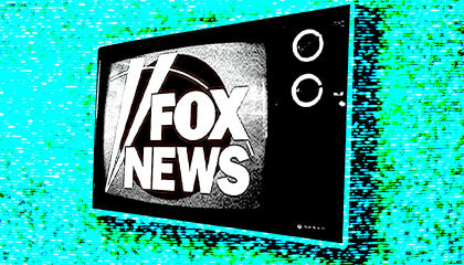 Fox News logo on a TV