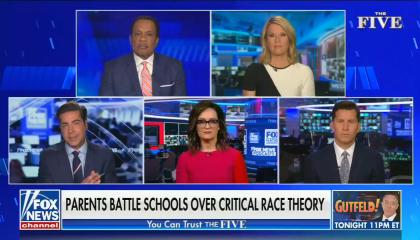 chyron: Parents battle schools over critical race theory
