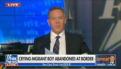 """chyron reads, """"CRYING MIGRANT BOY ABANDONED AT BORDER"""""""