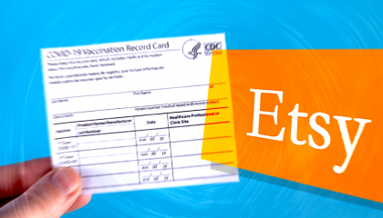 Etsy and vaccination card