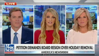 """Fox anchor: School with """"days off"""" on the calendar instead of holidays is leading us down the path of communist china"""