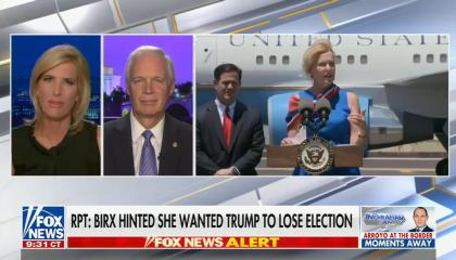 """chyron reads, """"RPT: BIRX HINTED SHE WANTED TRUMP TO LOSE ELECTION"""""""