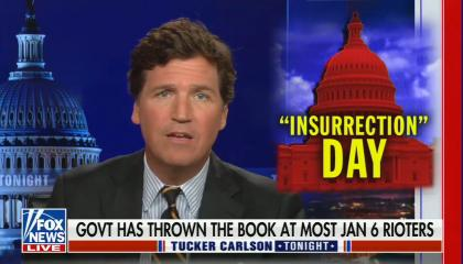 chyron reads: Govt has thrown the book at most Jan 6 rioters