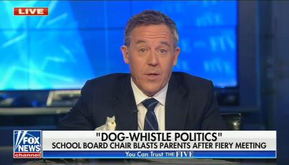 """chyron reads: """"Dog-whistle politics"""" School board chair blasts parents after fiery meeting"""