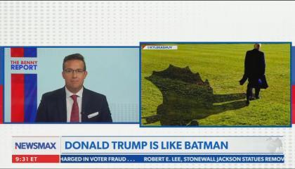 Newsmax host compares Donald Trump to Batman
