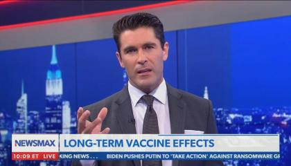"""Newsmax host criticizes vaccines as """"going against nature"""" and stopping diseases that are """"supposed to wipe outa certain amount of people"""""""
