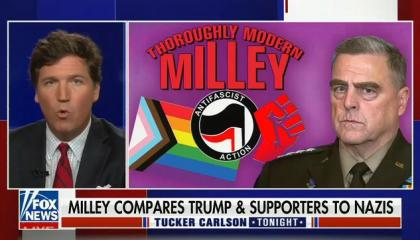 Tucker Carlson attacks Gen. Mark Milley for planning to stop a potential coup by Donald Trump