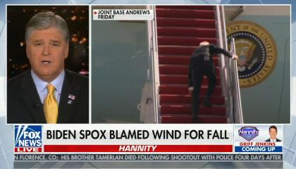 chyron reads: Biden floats more virus rules for law-abiding Americans while COVID-positive migrants pour into U.S.