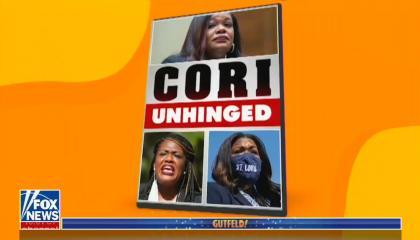 "graphic of Cori Bush titled ""Cori Unhinged"""