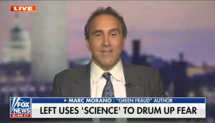 chyron reads: Left uses 'science' to drum up fear