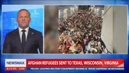 """Newsmax host warns """"it won't be long before"""" an Afghan refugee """"blows himself up on a street corner in a city near you"""""""