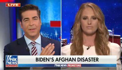 chyron reads: Biden's Afghan disaster