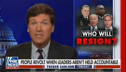 chryon reads: Who will resign? People revolt when leaders aren't held accountable