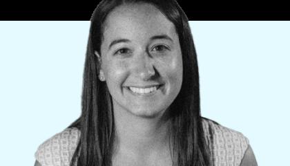 black and white image of Kayla Gogarty
