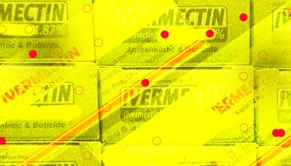 stylized boxes of Ivermectin