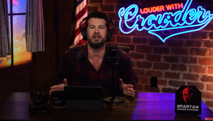 """On YouTube, Steven Crowder says trans people """"want to become a woman so they can have big old fake tits and wear clown makeup"""""""