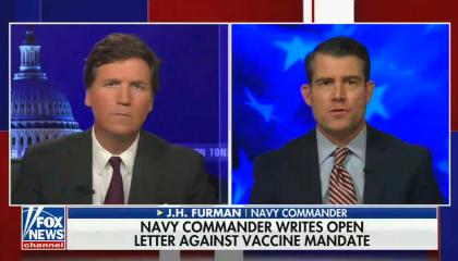 chyron reads: Navy: Sailors have until Nov 28 to get vaccinated