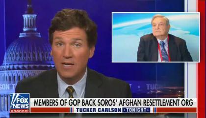 chyron reads: Members of GOP back Soros' Afghan resettlement org