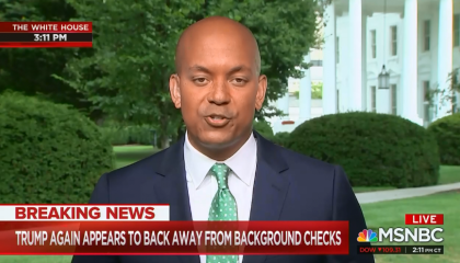MSNBC points out Trump used NRA talking point