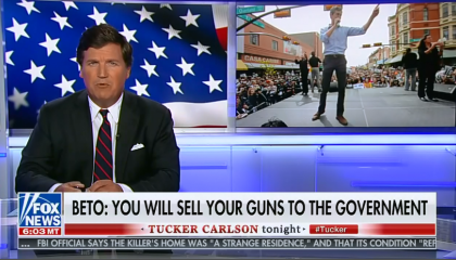 Tucker Carlson says a gun buyback program is inciting a civil war