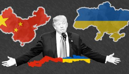 Donald Trump with China and Ukraine