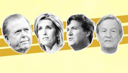 Fox hosts Lou Dobbs, Laura Ingraham, Tucker Carlson, and Steve Doocy