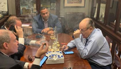 Rudy Giuliani with Parnas, Fruman