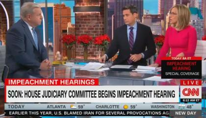 "CNN's Alisyn Camerota suggests a Republican ""circus"" during impeachment hearings will be ""more compelling"" than ""people arguing about ... high crimes and misdemeanors"""