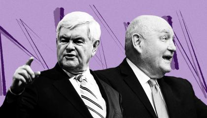 Sonny Perdue and Newt Gingrich