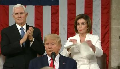 Pelosi SOTU 2020 tear up