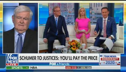 Screenshot of Fox & Friends segment