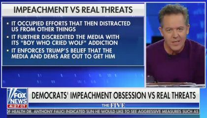 "Greg Gutfeld slams Democrats for focusing on impeachment instead of ""real threats"""