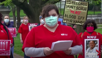 Nurses protest at the White House