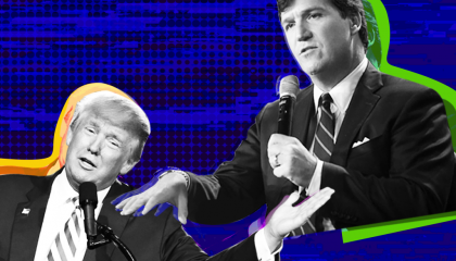 Tucker Carlson and Donald Trump