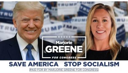 Marjorie Taylor Greene Trump ad