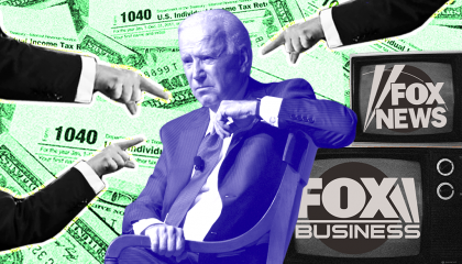 Fox News fearmongering about potential Biden tax policy