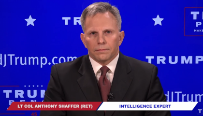 An image of Tony Shaffer in a Trump campaign video