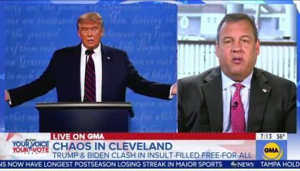 GMA Chris Christie 9/30/20