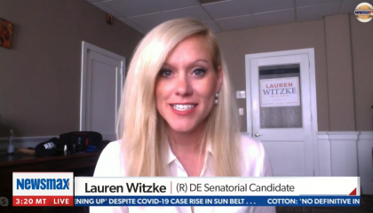 An image of Lauren Witzke on Newsmax
