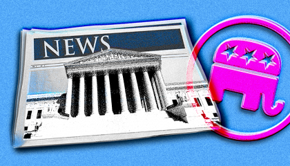 image of the Supreme Court with the GOP logo