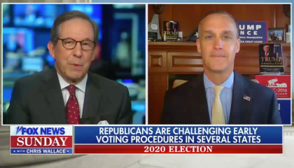 Wallace doesn't push back on Lewandowski's claim that there will be no need to count votes after election night