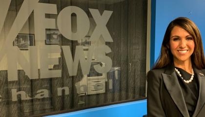 An image of Lauren Boebert next to the Fox News logo