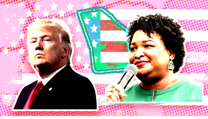 Donald Trump and Stacey Abrams