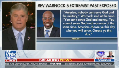 Fox News host take Warnock out of context to call him a radical