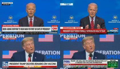 Cable News live coverage of Biden/Trump events